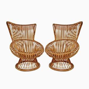 Margherita Easy Chairs by Franco Albini for Vittorio Bonacina, 1950s, Set of 2