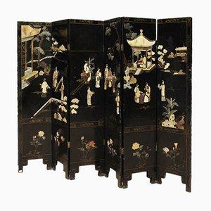 Französischer Mid-Century Chinoiserie Wandschirm mit Speckstein