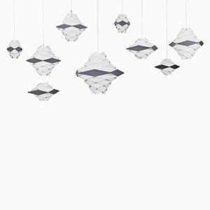 Deckenlampen von Preben Dahl für Hans Folsgaard, 9er Set