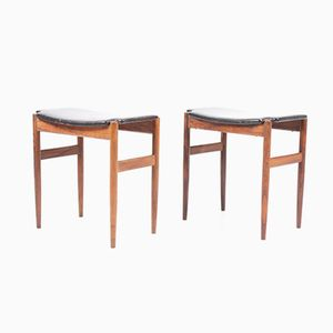 Danish Rosewood Stools, 1960s, Set of 2