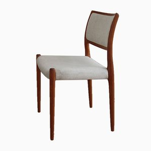 Model 80 Dining Chair by Niels Otto Möller for J.l. Möbelfabrik, 1960s