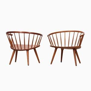 Vintage Sessel von Yngve Ekström für Stolfabriks, 2er Set