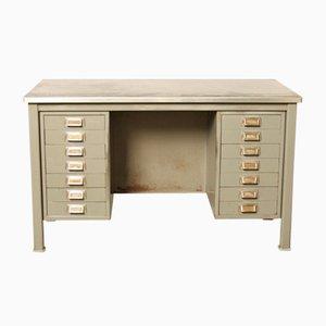 Mid-Century Schreibtisch mit 14 Schubladen von Gispen