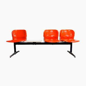 German Swing Three-Seater Bench with Table by Gerd Lange for Drabert, 1960s