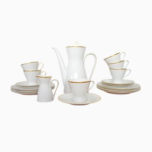 Coffee Set for 6 People by Raymond Loewy & Richard Latham for Rosenthal, 1950s