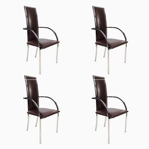 Vintage Belgian Chairs from Belgo Chrom/ Dewulf Selection, Set of 4
