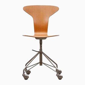 Vintage Drehsessel von Arne Jacobsen für Fritz Hansen
