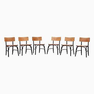 Vintage Beistellstühle von Frits Schlegel für Fritz Hansen, 6er Set