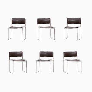 Stapelbare Vintage Stühle von Preben Fabricius & Jørgen Kastholm für Kill International, 6er Set