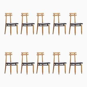 Vintage Esszimmerstühle von Roberto Aloi, 10er Set