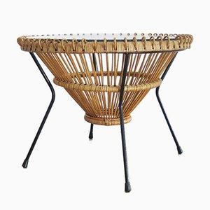 Rattan Coffee Table by Franco Albini, 1950s