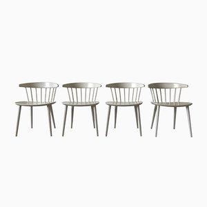 White J104 Dining Chairs by Jørgen Bækmark for FDB Møbler, 1960s, Set of 4