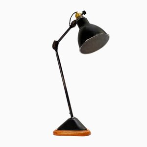 206 Table Lamp with Oak Base by Bernard Albin Gras, 1920s