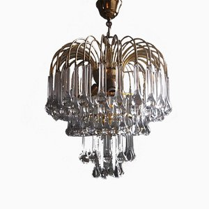 Large Murano Glass Drops Chandelier by Paolo Venini for Venini, 1960s