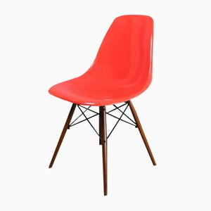 DSW Chair in Red and Orange by Charles & Ray Eames for Herman Miller, 1960s