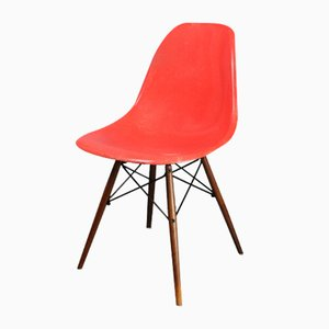 Red Orange DSW Chair by Charles & Ray Eames for Herman Miller, 1960s