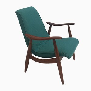 Skandinavischer Teak Sessel von Louis van Teeffelen für Wébé, 1950er