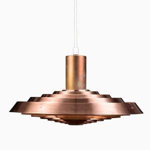 Vintage PH Tallerken Lampe aus Kupfer von Poul Henningsen für Louis Poulsen, 1950er