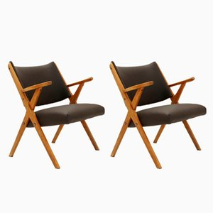 Vintage Italian Armchairs from Dal Vera, Set of 2