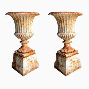 Gusseisen Pflanzer, 1900er, 2er Set