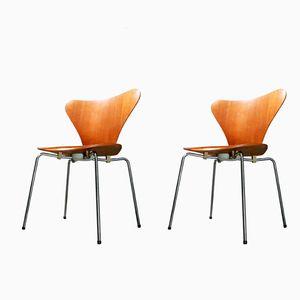 3107 Teak Stuhl von Arne Jacobsen für Fritz Hansen, 1970
