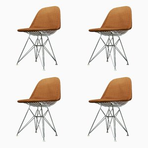 Vintage Wire Chairs by Charles and Ray Eames for Contura, Set of 4