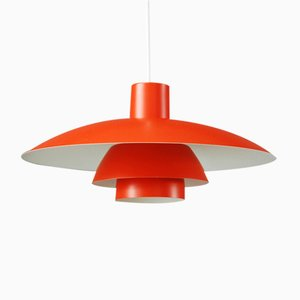 Vintage PH4/3 Orange Pendant by Poul Henningsen for Louis Poulsen