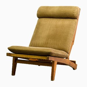 AP71 Reclining Oak Lounge Chair by Hans J. Wegner for AP Stolen, 1968