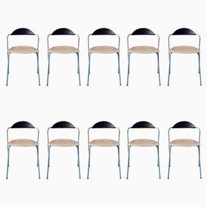 Stühle von Vico Magistretti für Fritz Hansen, 10er Set
