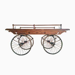 Viktorianischer Eichenholz Transportwagen, 1870er