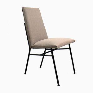 Sedia con tessuto grigio, anni '60