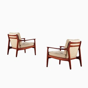Mid Century Teak Lounge Chairs By Eugen Schmidt For Soloform