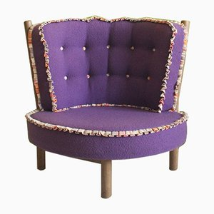 Oak Lounge Chair by Guillerme & Chambron, 1960s