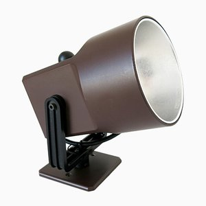 Chocolate Brown Lillebror Wall Lamp or Spotlight by Louis Poulsen, 1970s