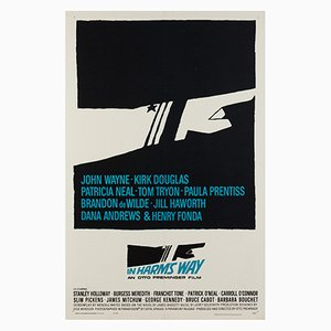 In Harm's Way Poster by Saul Bass, 1965