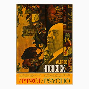 The Birds & Psycho Poster by Zdenek Ziegler, 1970