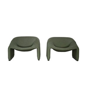 Vintage Groovy F598 Chairs by Pierre Paulin for Artifort, Set of 2