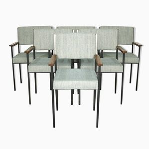 Metal Dining Chairs, 1960s, Set of 6