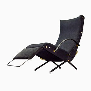 First Edition P40 Adjustable Lounge Chair by Osvaldo Borsani for Tecno, 1955