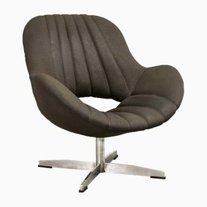 Chocolate Brown Leatherette Lounge Chair from Rohé Noordwolde, 1970s