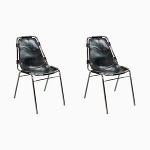 Les Arcs Chairs by Charlotte Perriand for Cassina, 1968, Set of 2