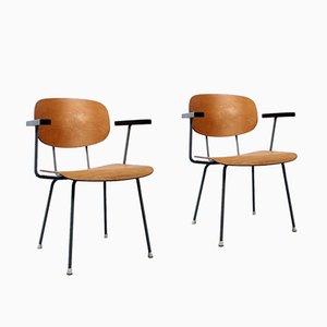 Birken- Schichtholz 116 Stühle von Wim Rietveld für Gispen, 1950er, 2er Set