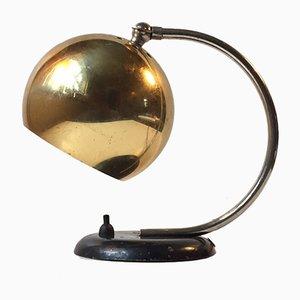 Dänische Hybrid Tisch- oder Wandlampe mit Messingkugel von Lyfa, 1950er