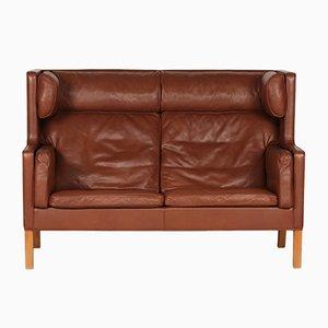 Dänisches 2192 Coupé Sofa aus Leder und Eiche von Børge Mogensen für Fredericia Furniture, 1970er