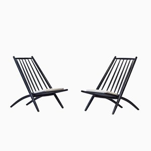 Congo Easy Chairs by Ilmari Tapiovaara for Hagafors, 1950s, Set of 2