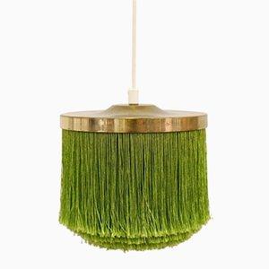 Green Silk Fringe Pendant by Hans-Agne Jakobsson, 1960s