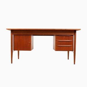 Scandinavian Teak Desk by Gunnar Nielsen Tibergaard, 1960s