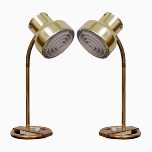 Bumlingen Brass Table Lamps by Anders Pehrson for Ateljé Lyktan, 1960s, Set of 2