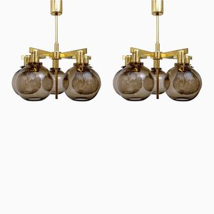 T348/5 Pastoral Ceiling Lamps by Hans-Agne Jakobsson, 1960s, Set of 2