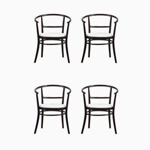 Chaises en Bois Courbé de Ton, 1970s, Set de 4